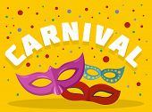 Carnival Logo. Flat Illustration Of Carnival Logo For Web poster