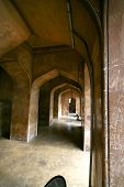 stock photo of charminar  - Walk way in side Charminar Historic monument in India - JPG