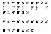 image of braille  - writing or alphabet braille some for blind man and badly indicator - JPG