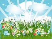 Vector Design Element Sunny Day poster