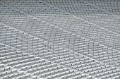 picture of bleachers  - Bleacher Seats at a college football stadium  - JPG