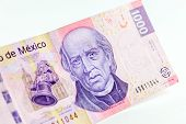 stock photo of pesos  - Front view of a mexican 1000 pesos bill - JPG
