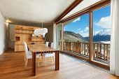 foto of chalet interior  - interior mountain house - JPG