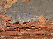 Old Weathered Brick Wall poster