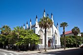 foto of scrollwork  - Huguenot Church in Charleston South Carolina - JPG