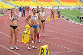 MOSCOW - JUN 11: Women are ready to start on International athletic competition Moscow Challenge on