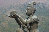 pic of lantau island  - Buddha statue at Po Lin Buddhist Monastery located on Ngong Ping Plateau on Lantau Island - JPG