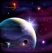 picture of saturn  - Planets stars and deep space background - JPG