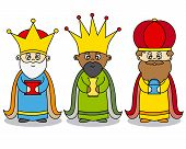 stock photo of three kings  - Letter to the Three Kings - JPG