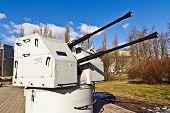 image of artillery  - Soviet shipboard artillery mount 2M - JPG