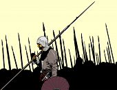 image of battle  - Knight battle history soldier illustration art vector - JPG