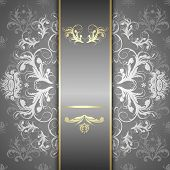 picture of damask  - Elegant ornate background with lace seamless ornament for invitations greeting card menu - JPG
