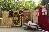 Roadside carpet stall