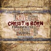 image of holy family  - Religious Words on Grunge Background