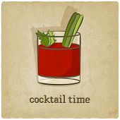 pic of cocktail menu  - old background with cocktail  - JPG