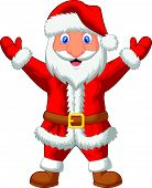 Santa cartoon waving
