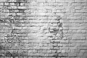stock photo of stonewalled  - dirty brick wall - JPG