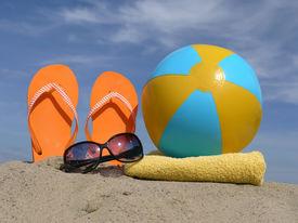 picture of beach-ball  - Orange flip - JPG