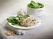 pic of cuttlefish  - grilled cuttlefish with fresh spinach salad - JPG
