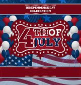 stock photo of combinations  - 4th of July Vector Design template - JPG