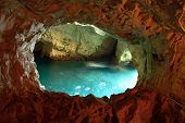 stock photo of grotto  - Cave in Rosh Hanikra National reserve northern Israel - JPG