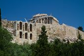 pic of akropolis  - a view of the Acropolis of Athens Greece - JPG