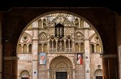 stock photo of ferrara  - Detail of saint George cathedral in Ferrara - JPG