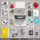 picture of flashers  - Vector data Protection style - JPG