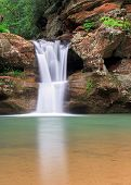 image of cave  - The beautiful Upper Falls a waterfall at Old Man - JPG