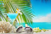 stock photo of curacao  - Blue curacao cocktail - JPG