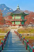 stock photo of seoul south korea  - Autumn Color at Gyeongbokgung Palace - JPG