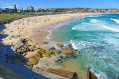 stock photo of sunburn  - Turquoise Water of Bondi Beach in Sydney - JPG