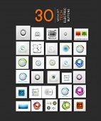 image of controller  - Mega collection of vector UI buttons set - JPG
