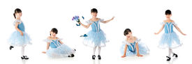 picture of panty-hose  - Panel of five poses for a young tap dancer - JPG