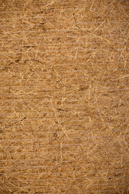 picture of hayride  - Side view of a compressed hay bale - JPG