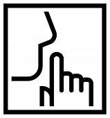 stock photo of silence  - Keep silence icon - JPG