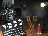stock photo of clapper board  - Video - JPG