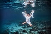 foto of peace  - Underwater angel - JPG