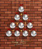 stock photo of weihnachten  - Christmas Balls and Stars - JPG