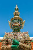 stock photo of ravana  - Ravana giant statue at Wat Phra Si Rattana Satsadaram  - JPG