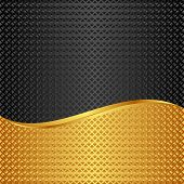 stock photo of divider  - golden and black background divided into two - JPG