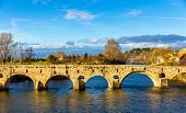 picture of orbs  - The Pont Vieux a bridge over the Orb in Beziers France - JPG