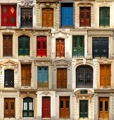 picture of door  - Collage of old and colorful doors from Paris - JPG