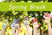 image of spring break  - Spring break concept - JPG