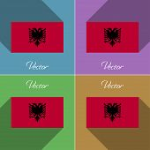 picture of albania  - Flags of Albania - JPG