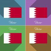 image of bahrain  - Flags of Bahrain - JPG