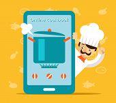 image of cook eating  - Online cookbook - JPG