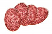 picture of sausage  - Slices of salami - JPG
