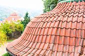 stock photo of red roof tile  - Architectural detail  - JPG