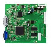 pic of processor  - Electronic circuit board with processor - JPG
